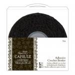 Самозалепваща черна памучна дантела - 5m Adhesive Crochet Border - Capsule - Midnight Blush