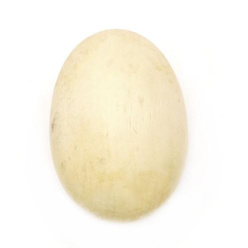 Дървено яйце за декорация - натурално - 63x42 мм