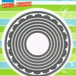 Комплект от 6 бр. кръгове + 1 кръг с декорация - Marianne Design - Craftables Die - Basic Circles