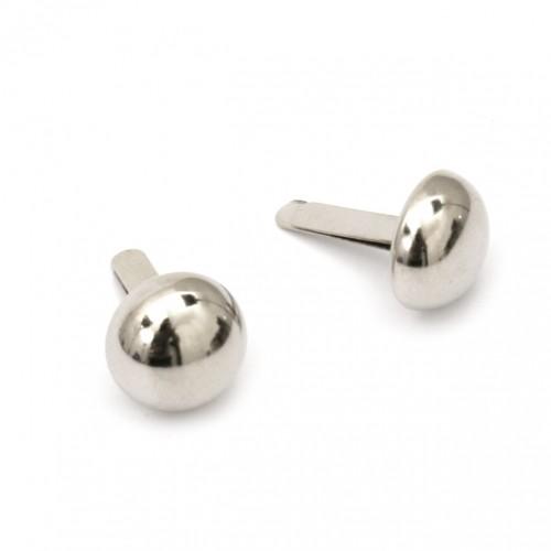 Метални брадс - сребро с размери 20х12мм - 10бр.
