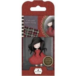 Гумен печат - момиче с цветя - Santoro Gorjuss GOR 907318 Scrapbooking Stamp, Red