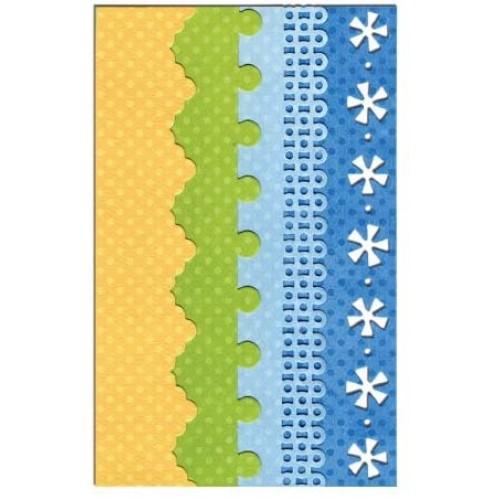 Шаблон за изрязване 4бр. - Sizzix Thinlits Die Set 4PK - Dotty & Flowers