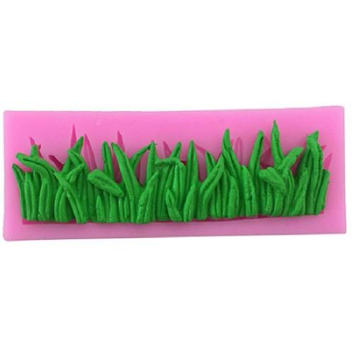 Силиконов молд /форма/ калъп - трева - размери - 124x43x13мм