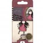 Гумен печат - момиченце с книги - Santoro Gorjuss GOR 907302 Scrapbooking Stamp, Red