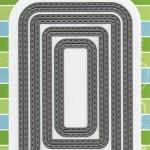 Комплект от 4 бр. правоъгълници с двоен шев - Marianne Design - Craftables Dies - Basic Stitch Rectangle