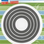 Комплект от 4 бр. кръгове с двоен шев - Marianne Design - Craftables Die - Stitched Basic Circles