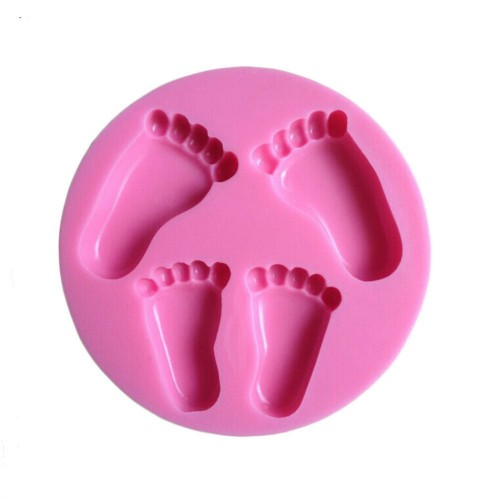 Силиконов молд /калъп - бебешки стъпки/крачета - размери - 100x100x13мм