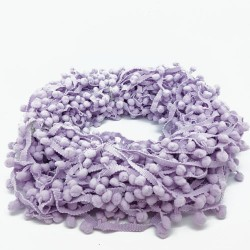 Пом пом лента - лилава - Lilac Pompom Ribbon Trim - 1 метър