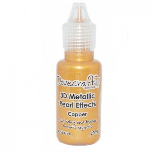 3D течни перли с бляскав ефект - Dovecraft 3D Metallic Pearl Effects - Copper