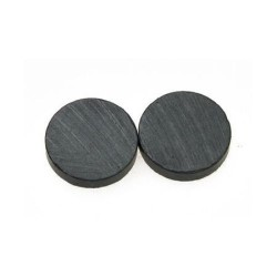Черен магнит - 15 x 3 мм - 10 броя