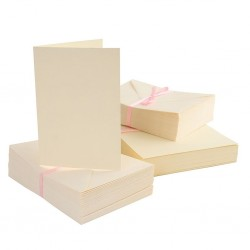 Комплект от основи за картички - крем - A6 + пликове - Anita's A6 Cards & Envelopes Cream (100pk) - 100бр.