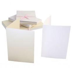 Перлени основи за картички с пликове - крем - Anita's A6 Cards & Envelopes Timeless Pearlescent (50pk)  - 50бр.