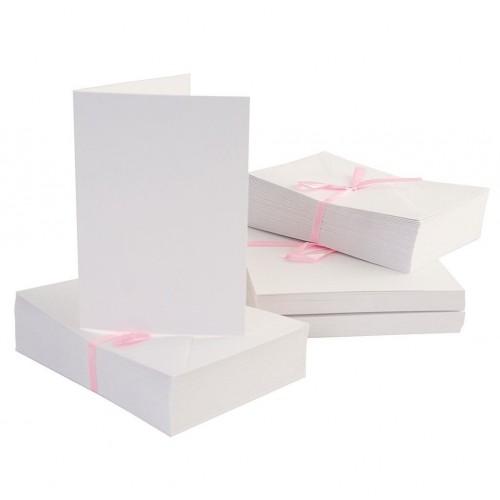 Комплект от основи за картички - бели - A6 + пликове - Anita's A6 Cards & Envelopes White (100pk) - 100бр.