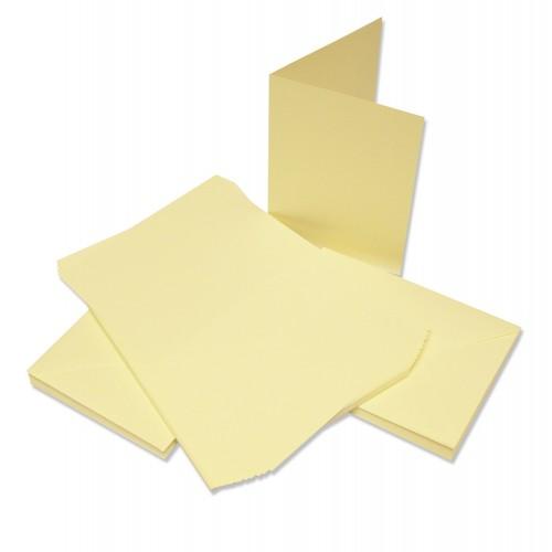 """Основи за картички с пликове - 5""""х 7"""" - крем - Craft UK Cards & Envelopes 5x7 Inch Ivory - 50бр."""