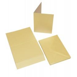 20бр. перлени основи за картички - крем + пликове , размер C6 - Craft UK Cards & Envelopes C6 Pearlescent Ivory