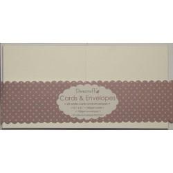 """20бр. мини квадратни картички с пликове - 3"""" х 3"""" - Dovecraft 20 Mini White 3x3 Cards & Envelopes"""