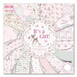 """Дизайнерско блокче - Момиче е - 12"""" х 12"""" - First Edition 12""""x12"""" Pad - It's a Girl (FEPAD078)"""