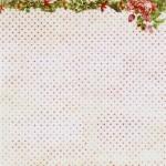 Едностранен дизайнерски лист - точки с рози - Winter Joy - 180gr.