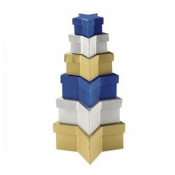 К-т от 6 бр. картонени кутии - ЗВЕЗДА - FOLIA