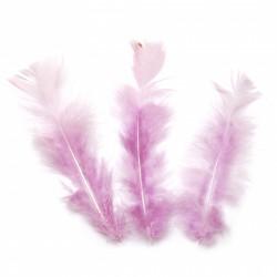 10бр. декоративни пера в бледо лилаво -  120~170x35~40 мм