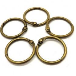 Самозаключващи се халки - старо злато - 10бр. - вътрешен d - 4см
