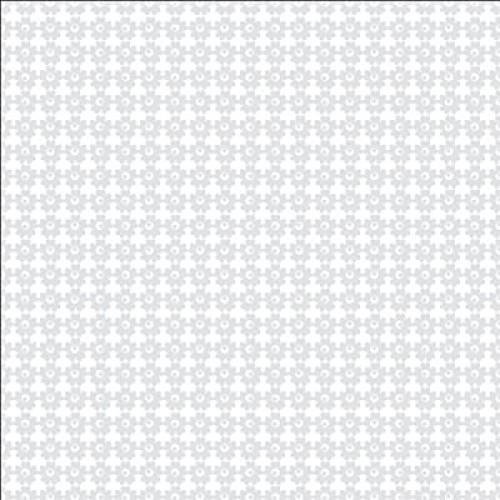 "Текстурен паус с декоративни велурени цветя  12""х 12"" - Bazzill Basics Paper - Textured vellum Flower Garden"