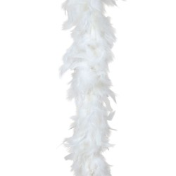 Шал от естествени бели пера - марабу - 180 см