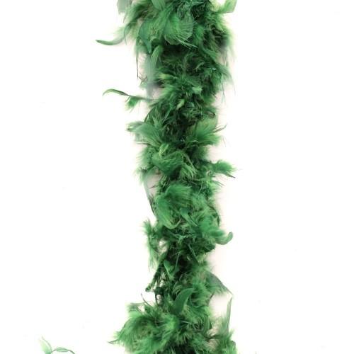 Шал от естествени зелени пера - марабу - 180 см