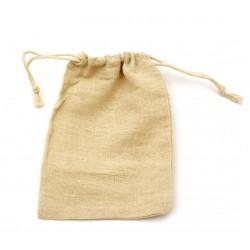 Торбичка / кесийка / чувалче от памук  с връзки - размери - 12x17 см