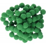 Пом-пом топчета - зелени - Christmas Pom Poms Fluffy Pom Balls Mini - 50бр.