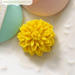 10бр. камео жълто цвете - PomPoms Cameo Set – Yellow (10 pieces per pack)