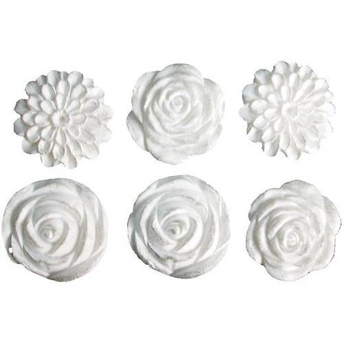 Комплект от 6 бр. винтидж цветя от полирезин - Blossoms