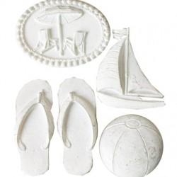 Комплект от резин декоративни елементи - Морски бряг -  Beach Escape Resin