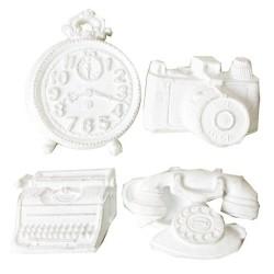 Комплект от декоративни елементи от полирезин - Ретро офис - Things in the Office Resin
