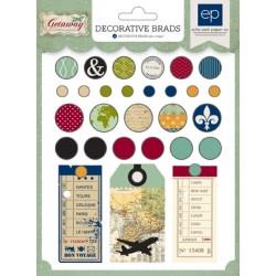 Комплект от декоративни брадс - Getaway Brad Set - 28бр.