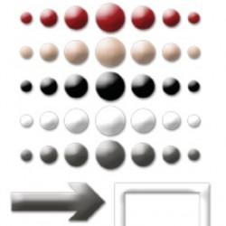 Самозалепващи точки и различни форми - Hello My Name Is: Enamel Dots & Shapes