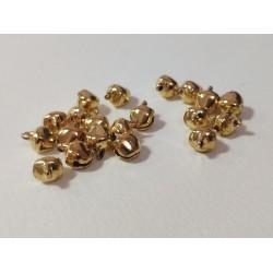 Мини метални звънчета - злато - 20 броя - 10х8мм