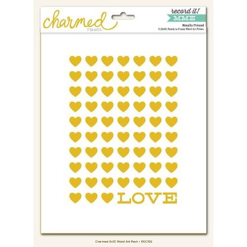 Комплект от изрязани фолио елементи за залепване -  Charmed - Record it! 8x10 Word Art Pack