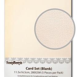 Комплект от 5 бр. основи за картички - с лек релеф - Blank Cards 11.5x16.5cm 280GSM
