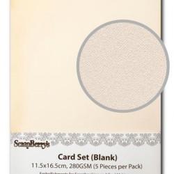 Основи за картички - 5 бр. - без релеф - Blank Cards 11.5x16.5cm 280GSM