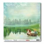 Двустранен дизайнерски лист - Double-Sided Paper (12*12 – 190gsm) Holiday Romance – At The Lake