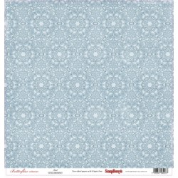"Едностранен дизайнерски лист - флорални мотиви - One-sided paper 12""*12"" 190gsm Butterflies Veil"