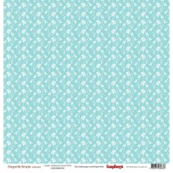 Двустранен дизайнерски лист - Double-Sided Paper (12*12 - 190gsm) Elegantly Simple (Classic Wallpaper) Limpet Shell