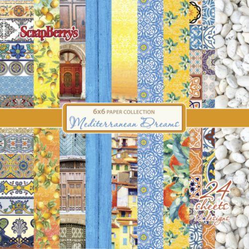 "Дизайнерско блокче - 6""х 6"" - Средиземноморски мечти - Paper Collection Set 6""*6"" Mediterranean Dreams 190 gsm (24 sheets, 12 designs, 2 units of each sheet)"