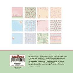 "Дизайнерско блокче - 6"" х 6"" - сладки моменти - Paper Collection Set 6""*6"" Sweet Moments 190 gsm (12 double-sided sheets, 12 designs, 2 units of each sheet)"