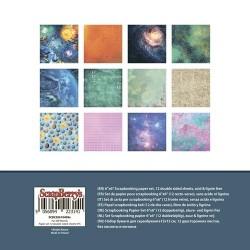 "Дизайнерско блокче 6"" x 6"" - космос - Paper Collection Set 6""*6"" Far-Off Worlds 190 gsm (12 double-sided sheets, 12 designs, 2 units of each sheet)"