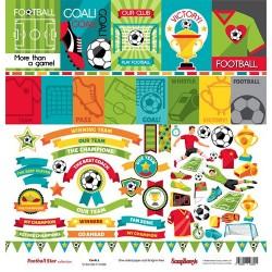 Едностранна дизайнерска хартия - с футболни елементи - Single-sided Paper Set (12*12-190GSM) Edge of Town – Next Exit , 1 Sheet
