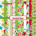 "Дизайнерско блокче - футбол - 6""х 6"" - Paper Collection Set 6""*6"" Football Star 190 gsm (12 double-sided sheets, 12 designs, 2 units of each sheet)"