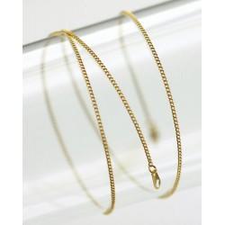 Метална верижка със закопчалка - цвят злато - 50см - Gold coloured chain 50 cm