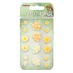 Комплект от резин цветя за залепване - Set of flowers, Fairy Tale 2 (resin)